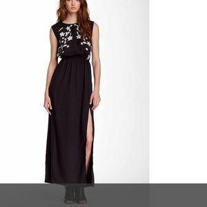 Front embroidered maxi dress